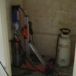 Toilet in aanbouw